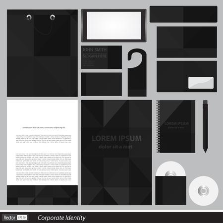 클래식 편지지 템플릿 디자인. 사업에 대한 문서.