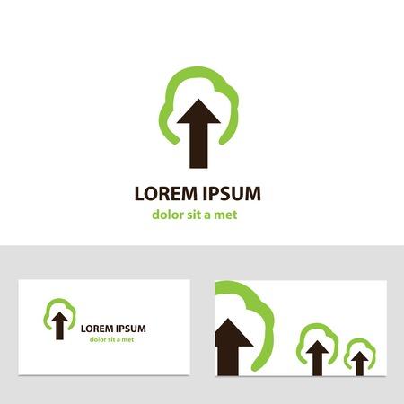 logo vector: Abstract vector logo design template with business card