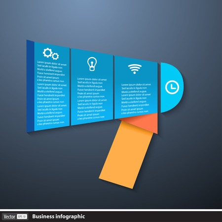 Vector infographic.Template with megaphone  Vector