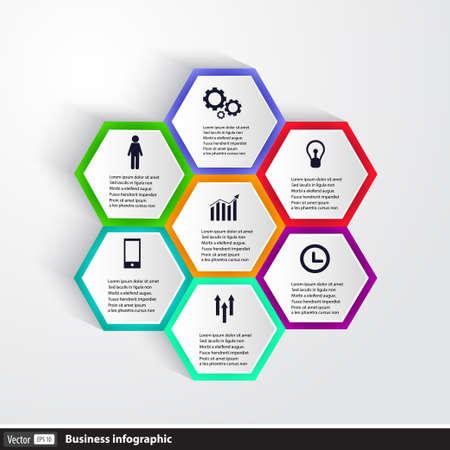 Conceptual vector Design template. infographics element Vector