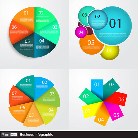 Modern business infographics set Vector