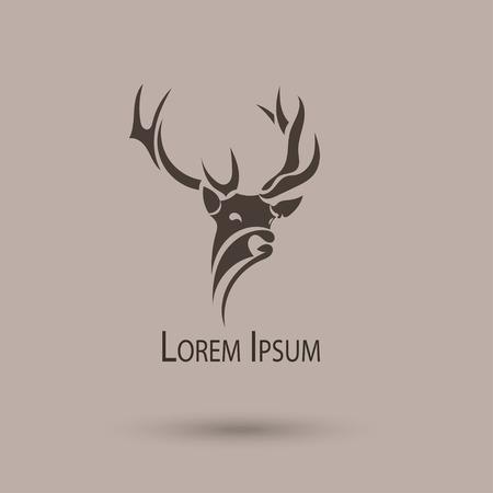 Vector stylized head of a deer.  Vector