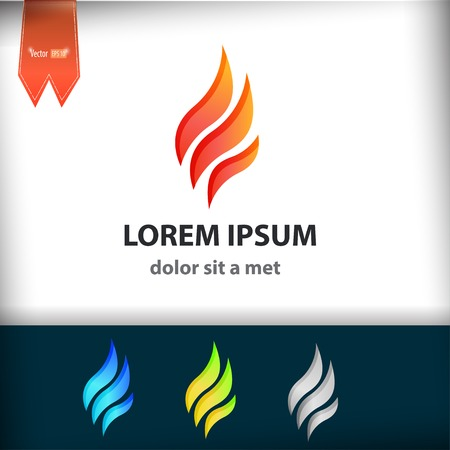 Fire Flame vector design template. Tongues of flame creative icon. Stock Vector - 33731407