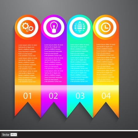 page layout: Vector Business Elements Infographics Tapes. Web template - web page, website layout.