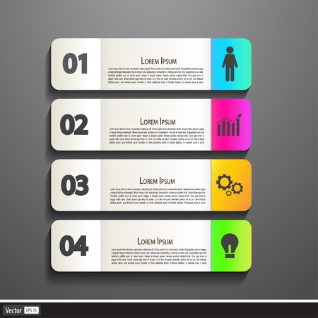 Paper Banner Design templates for your website or infographic. Vector illustration, modern colorful concept. Vector