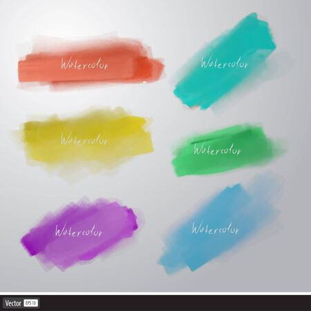 Watercolor splatters. Vector artistic set brush. Vector
