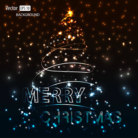 Creative Shining Christmas Tree. Vector Illustration Vector