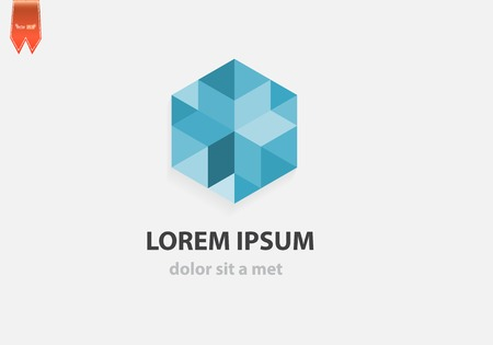 Abstract geometric crystal icon for business. Vector creative idea with polygonal shape. Stock Illustratie