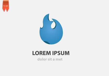 Fire icon design vector template. Creative shape for your company. Vector