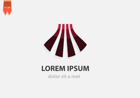 labirinth: Vector abstract business icon with wave. Creative design.