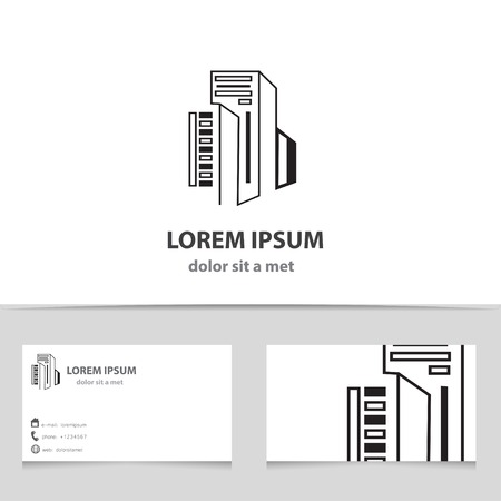 Building construction logo design for your company creative vector icon building with business card template creative design architecture reheart Image collections