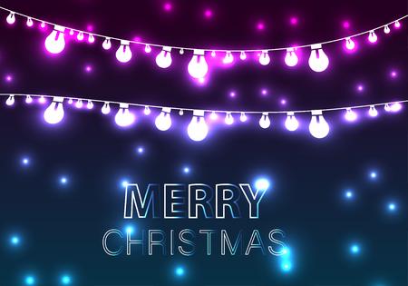 Christmas Lights Decorations Background. Иллюстрация