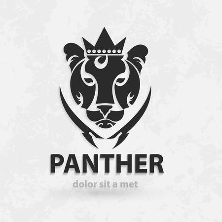 silueta tigre: Vector silueta estilizada pantera. Diseño creativo artístico. Boceto para tatuaje.