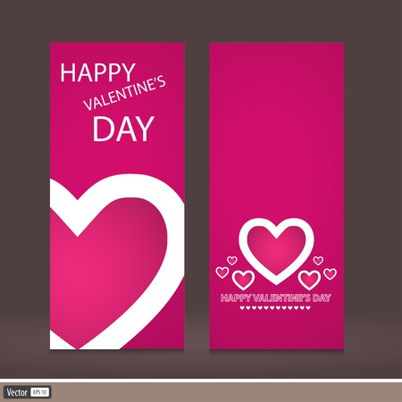 Creative design Valentine's Day. Vector invitation to a holiday. The modern idea of the flyer.