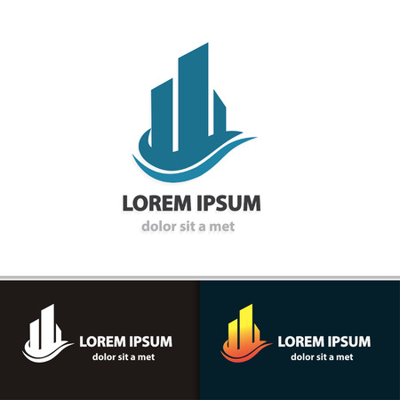 Creative building icon for your company. Modern vector design architecture.