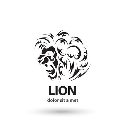 heraldic lion: Vector stylized lion icon. Artistic silhouette wild animal. Creative concept.