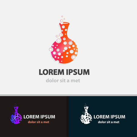 Creative flask business icon. Modern design shape. Vector illustrations.