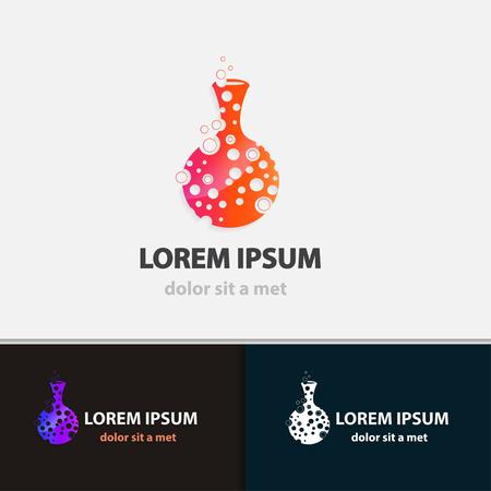 Creative flask business icon. Modern design shape. Vector illustrations. Imagens - 38134399