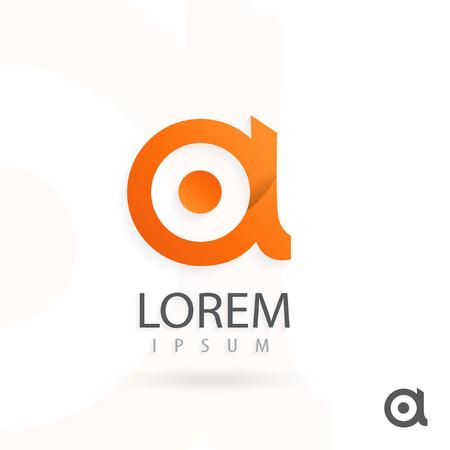Creatief logo ontwerp, letter a. Kleurrijke vector icon. Trendy zakelijke elementen.