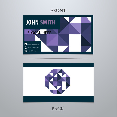 Vector creative business card template, letter G. Trendy business elements. Stock fotó - 38134988
