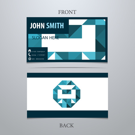 Vector creative business card template, letter A. Trendy business elements.