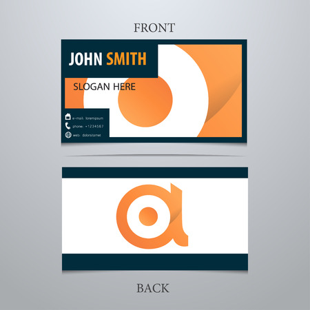 Vector creative business card template, letter A. Trendy business elements. Stock fotó - 38625987