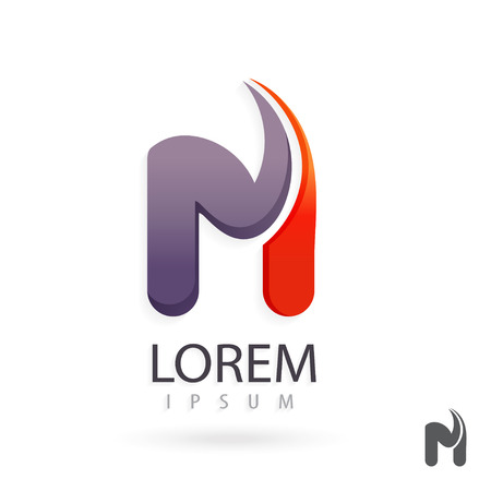abstract logos: Creative logo design, letter M. Colorful vector icon. Trendy business elements. Illustration