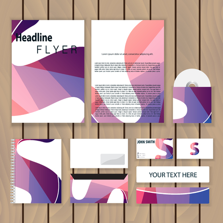 letter s: Creative colorful corporate identity. Trendy business concept with logo design template, letter s. Vector illustration. Illustration