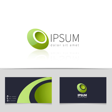 bussiness card: Creative abstract logo design with business card template. Trendy concept logotype for your company. Vector illustration.