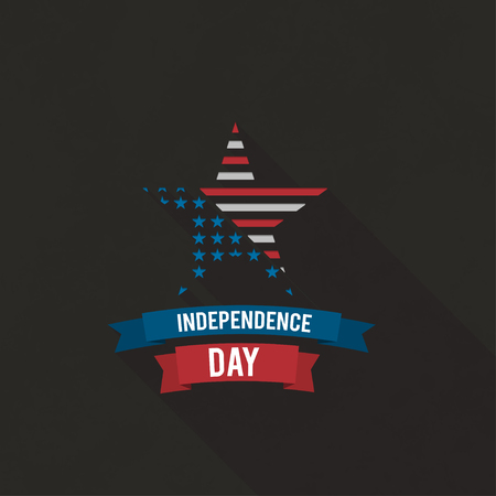 usa flag: Happy 4th of July Independence Day. Creative poster. Vector illustration.