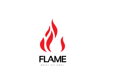 Abstract flame logo design. Creative fire logotype. Vector business icon. Illustration