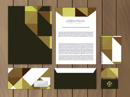 ides: Creative corporate identity. Trendy stationery business concept. Vector illustration.
