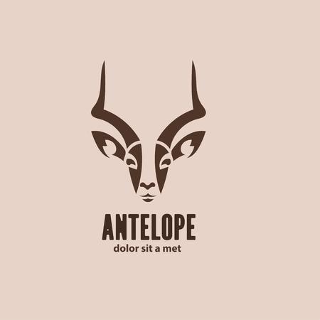예술적 벡터 실루엣 영양입니다. 양식에 일치시키는 아이디어 야생 동물 로고 디자인 템플릿.