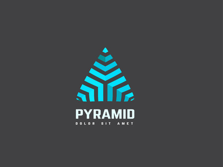 business symbol: Triangle abstract design template. Creative business symbol. Vector. Illustration