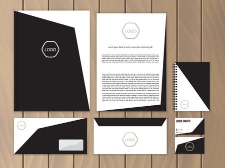 Corporate identity creativa. La documentazione per le imprese. Vector cancelleria modello di progettazione. Archivio Fotografico - 43197567