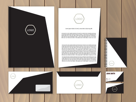 documentation: Creative corporate identity. Documentation for business. Vector stationery design template.