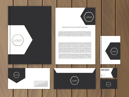 membrete: Identidad corporativa creativo. Documentación para los negocios. Vector de papelería plantilla de diseño.