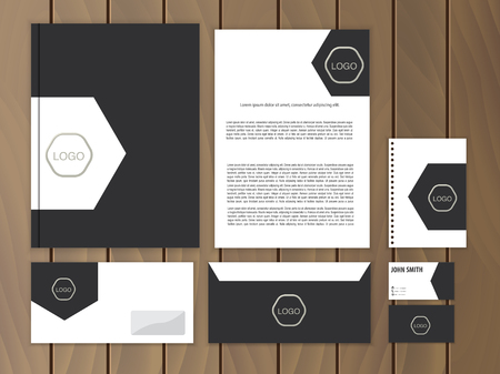 Creative corporate identity. Documentation for business. Vector stationery design template.