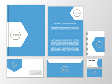 documentation: Vector stationery design set. Creative corporate identity. Documentation for business. Illustration
