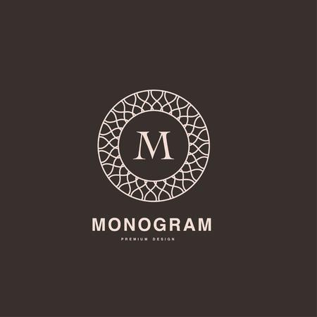 decorative letter: Elegant letter B monogram linear style