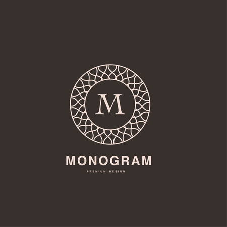 papier a lettre: Lettre B de monogramme élégant style linéaire