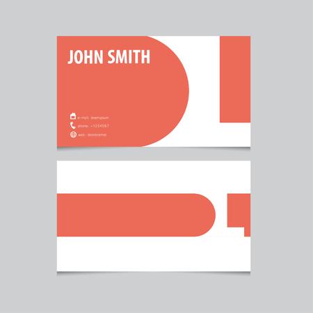 l background: Business card template, letter L. Vector logo design.