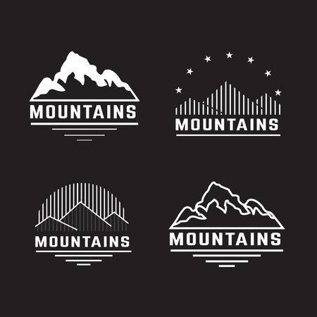山のアイコンのベクトルを設定します。  イラスト・ベクター素材