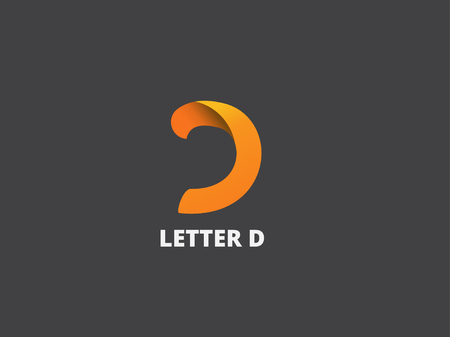 Letter D,  icon design template. Vector business elements. Фото со стока - 45332587