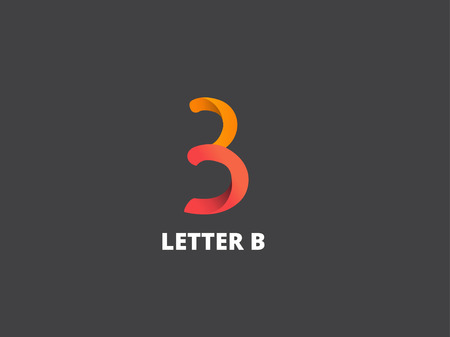 Letter B,  icon design template. Vector business elements.