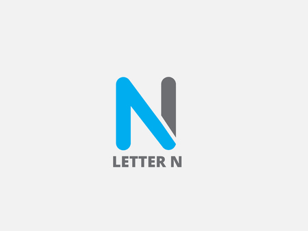 Letter N,  icon design template. Vector business elements.