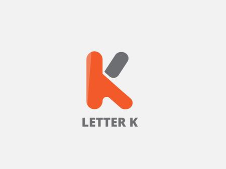 Lettera K, icona del modello di progettazione. Elementi Vector business. Archivio Fotografico - 45333268
