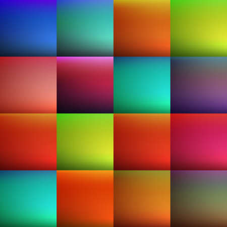 Abstract creative concept vector multicolored blurred background set. Vector illustration