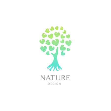 Tree logo illustration. Silhouette of a tree. Vector illustration