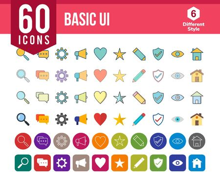 Basic UI Icons Illustration